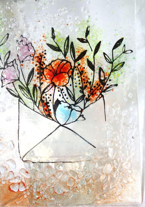 Blumenbrief  14x10cm