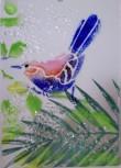 Vogel Teelicht  14x10cm