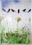 Vögel  14x10cm