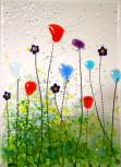 Blumenwiese Teelicht 14x10cm